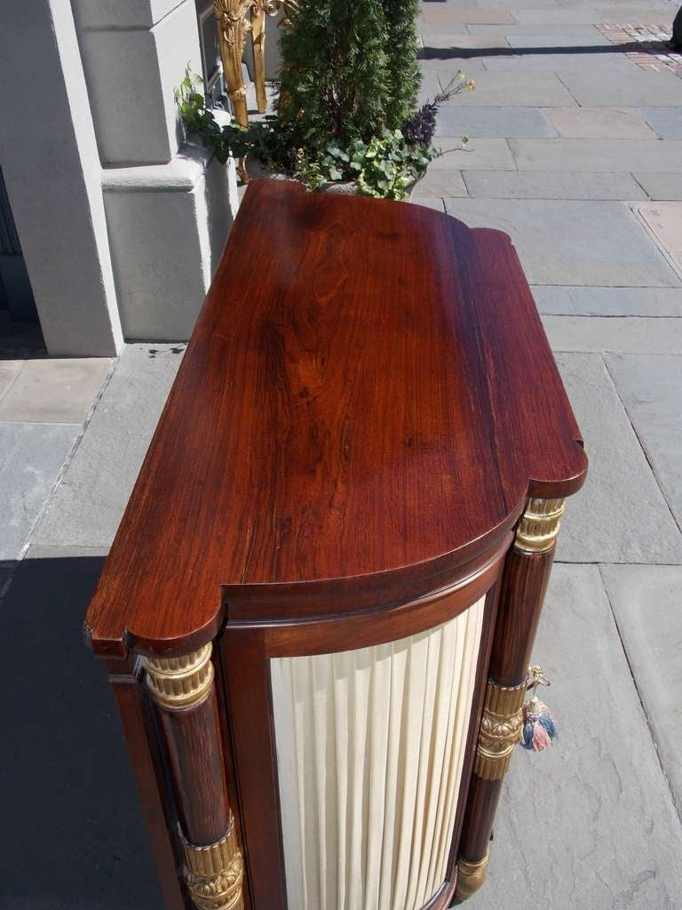 Italian Rosewood and Gilt Console For Sale 1