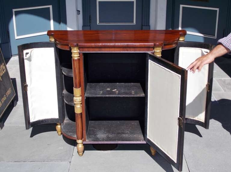 Italian Rosewood and Gilt Console For Sale 3