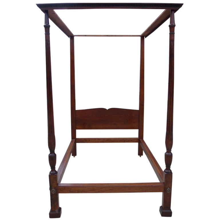 English Cuban Mahogany Tester Bed For Sale At 1stdibs