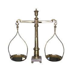 English Brass Urn & Marble Base Scale . Circa 1815