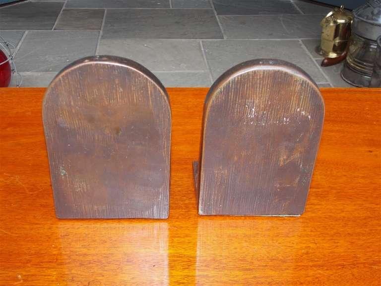 "Pair of American Bronze Bookends "" Mozart & Dickens,"" Circa 1880 5"