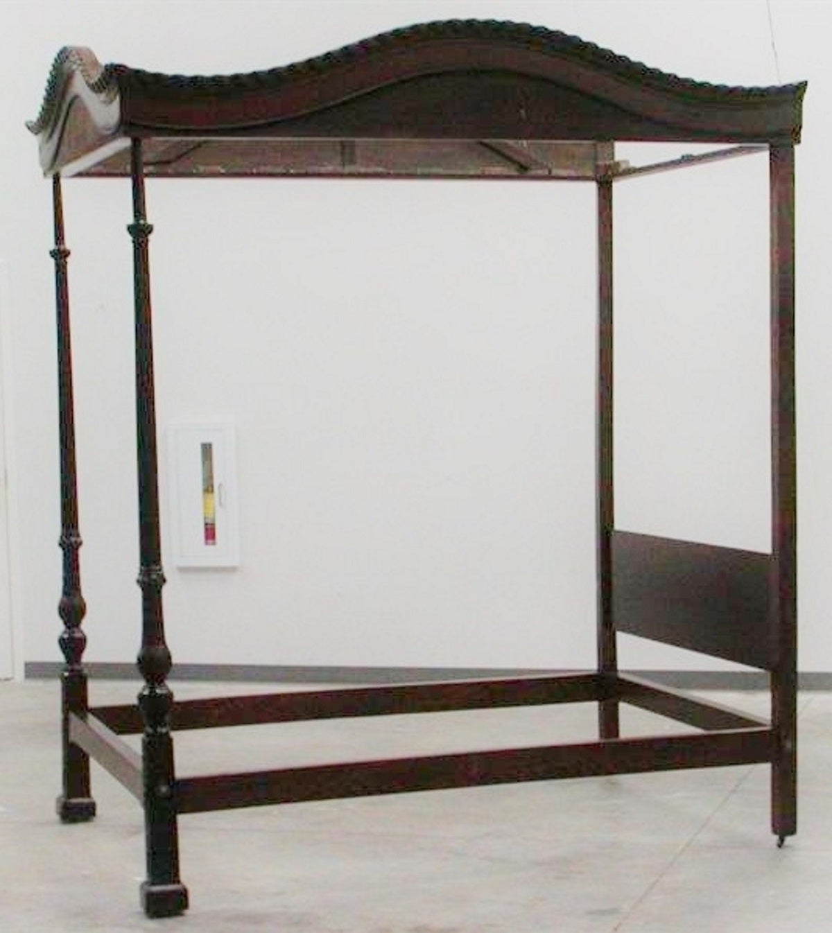 English Mahogany Four Poster Tester Bed Circa 1760 For