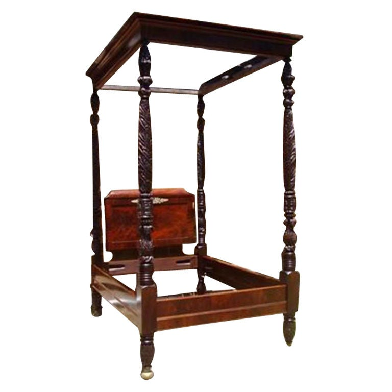 American Mahogany Classical Acanthus Tester Bed. Philadelphia, Circa ...