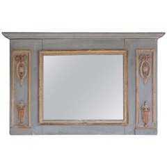 French Painted and Gilt Wall Mirror, Circa 1830