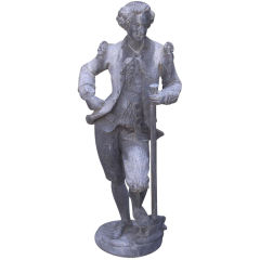 English Gentleman Garden Statue Comprised of Lead.  Early 20th Century