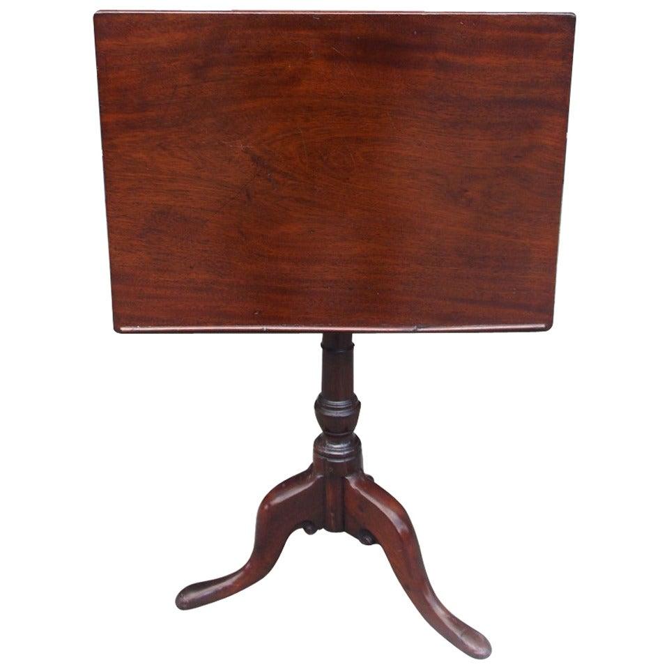 English Mahogany Tilt Top Podium. Circa 1770
