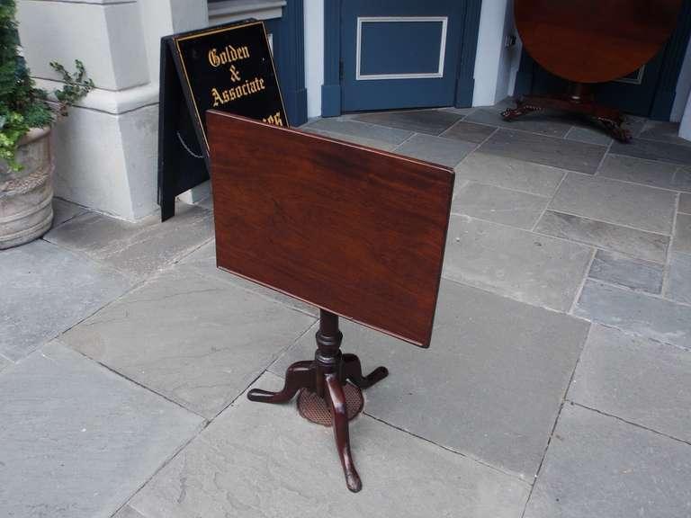 British English Mahogany Tilt Top Podium. Circa 1770 For Sale