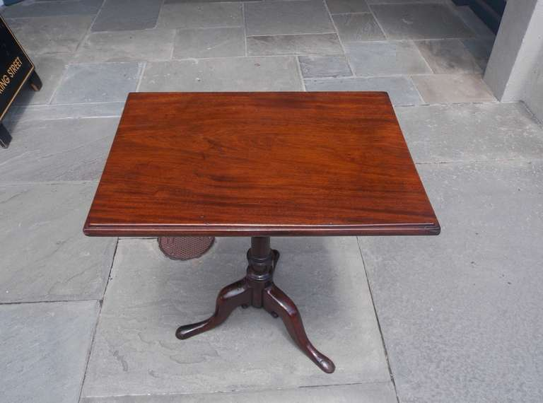 English Mahogany Tilt Top Podium. Circa 1770 In Excellent Condition For Sale In Charleston, SC