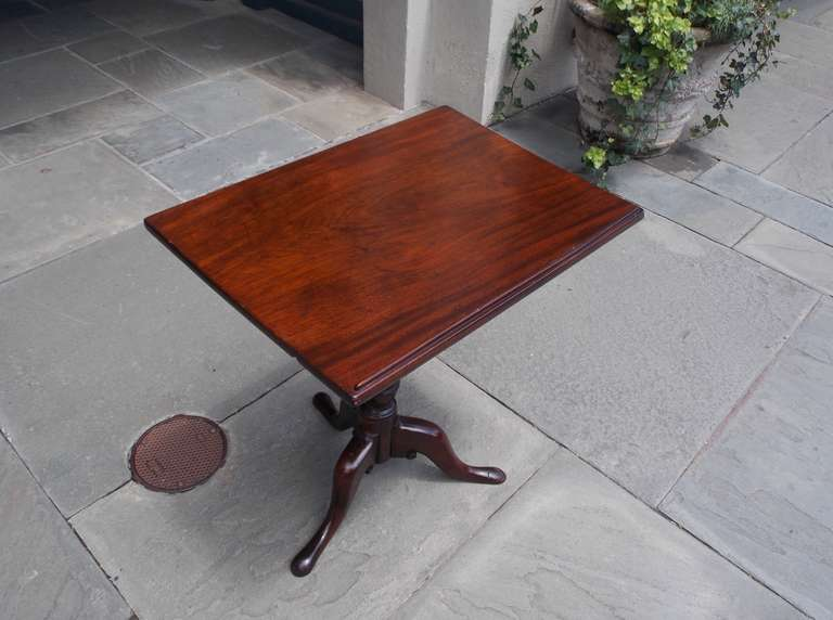18th Century and Earlier English Mahogany Tilt Top Podium. Circa 1770 For Sale