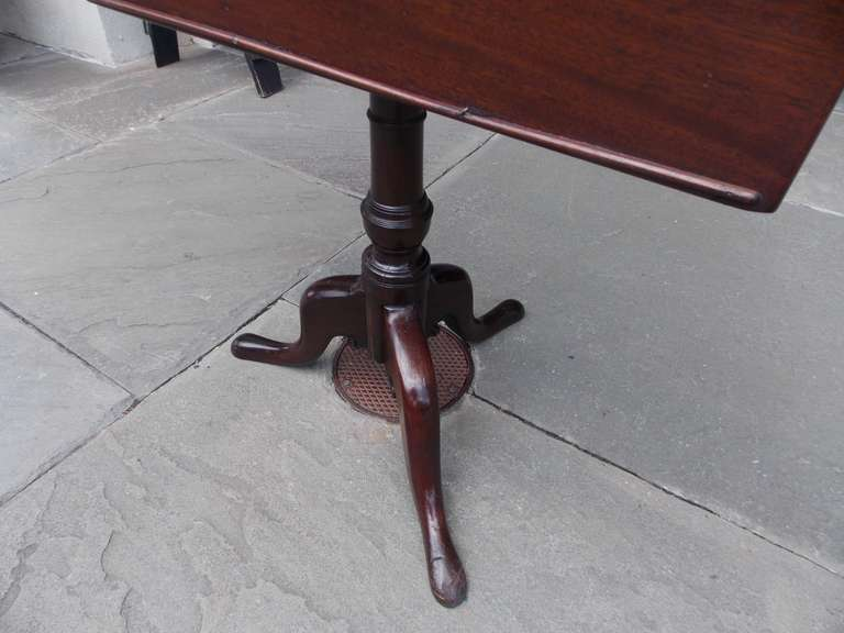 English Mahogany Tilt Top Podium. Circa 1770 For Sale 1