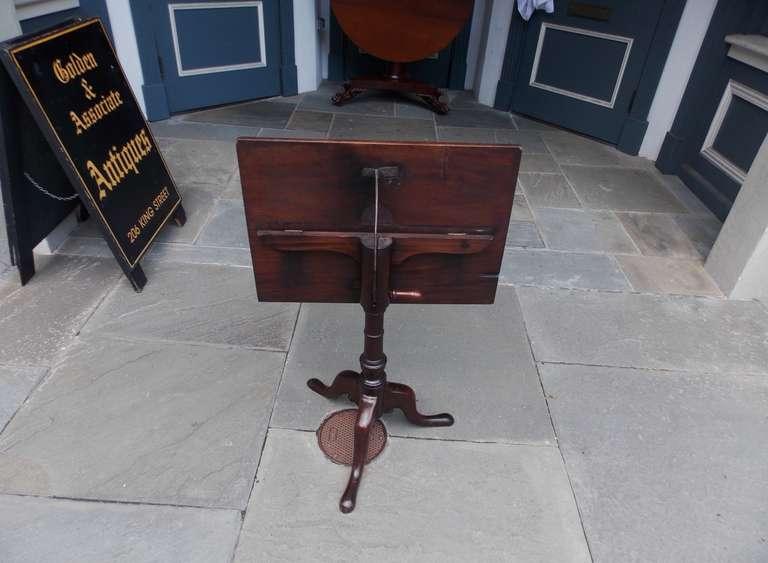English Mahogany Tilt Top Podium. Circa 1770 For Sale 2