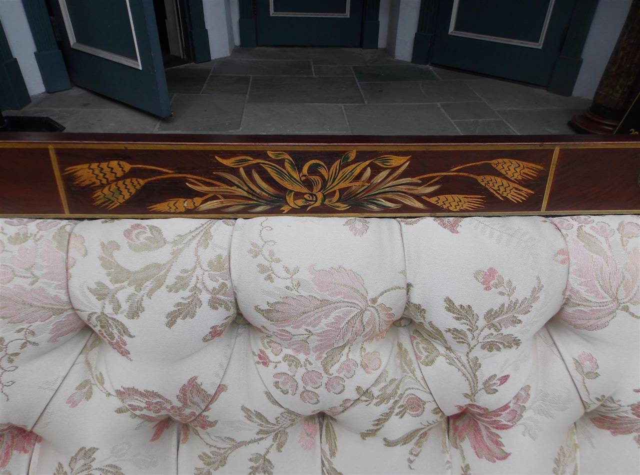 English Regency Stenciled and Gilt Settee, Circa 1780 For Sale 1