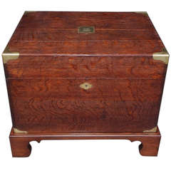 English Oak Campaign Chest on Stand. Circa 1820