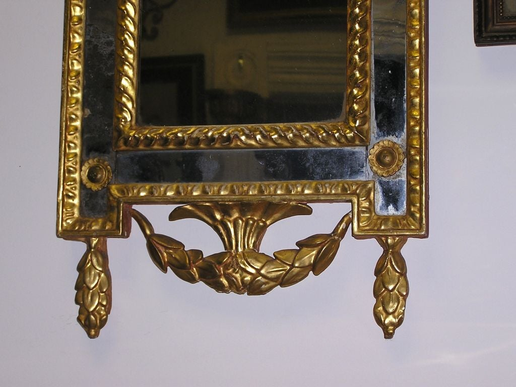 Pair of Italian Gilt Carved Floral Wall Mirrors. Circa 1780 For Sale 2