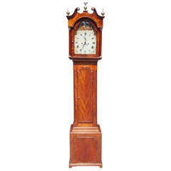 English Chippendale Mahogany Tall Case Clock, Circa 1780
