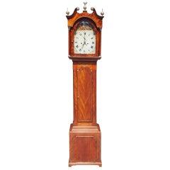 English Chippendale Mahogany Tall Case Clock, Circa 1780