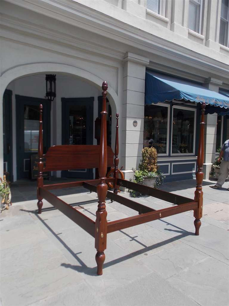 King Size Four Poster Bed Part - 23: American Mahogany King Size Four Poster Bed. Circa 1810 2