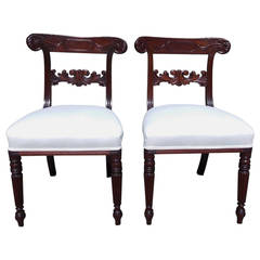 Pair of American Regency Mahogany Side Chairs, Baltimore, Circa 1815