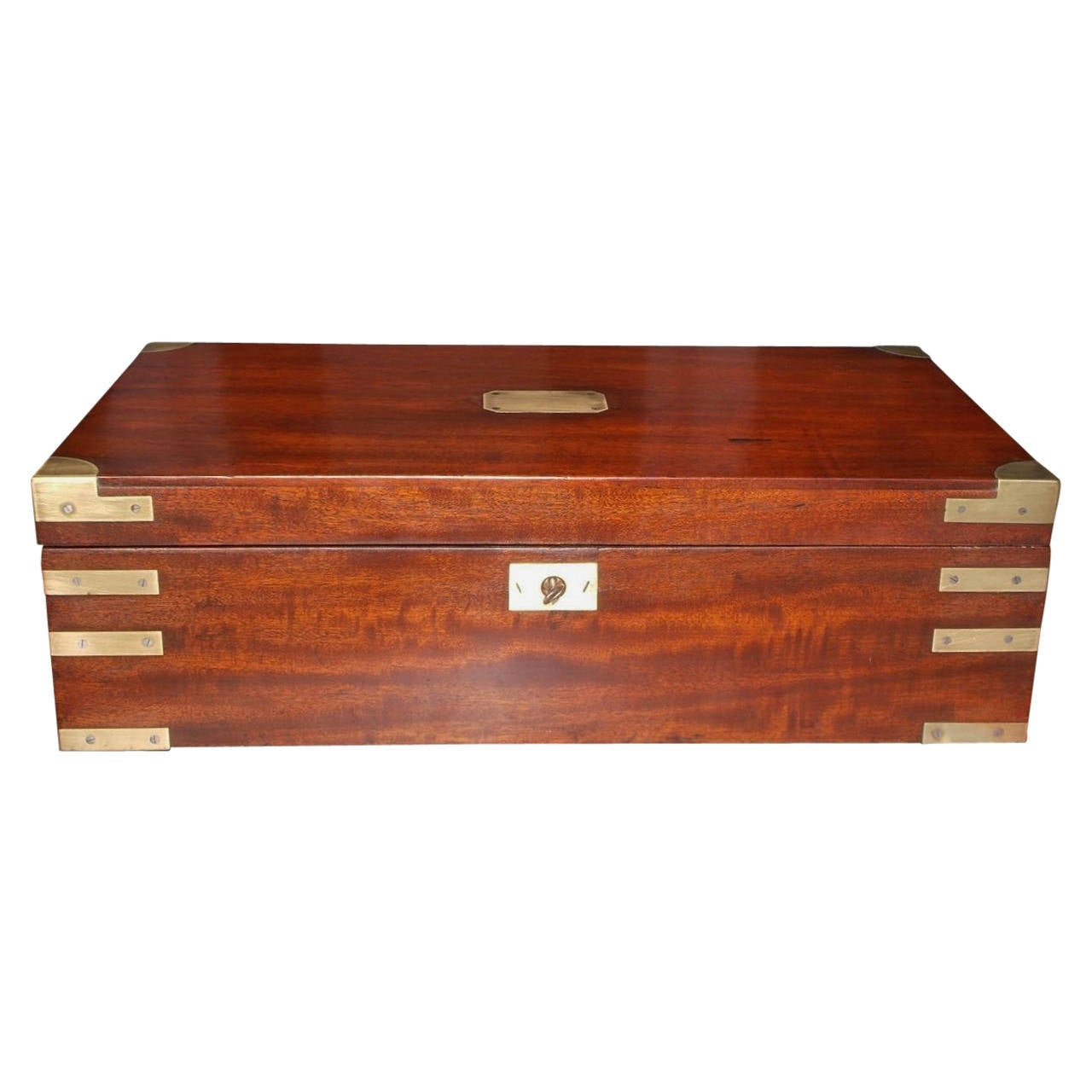 mahogany desk with brass mounts circa 1790 at 1stdibs