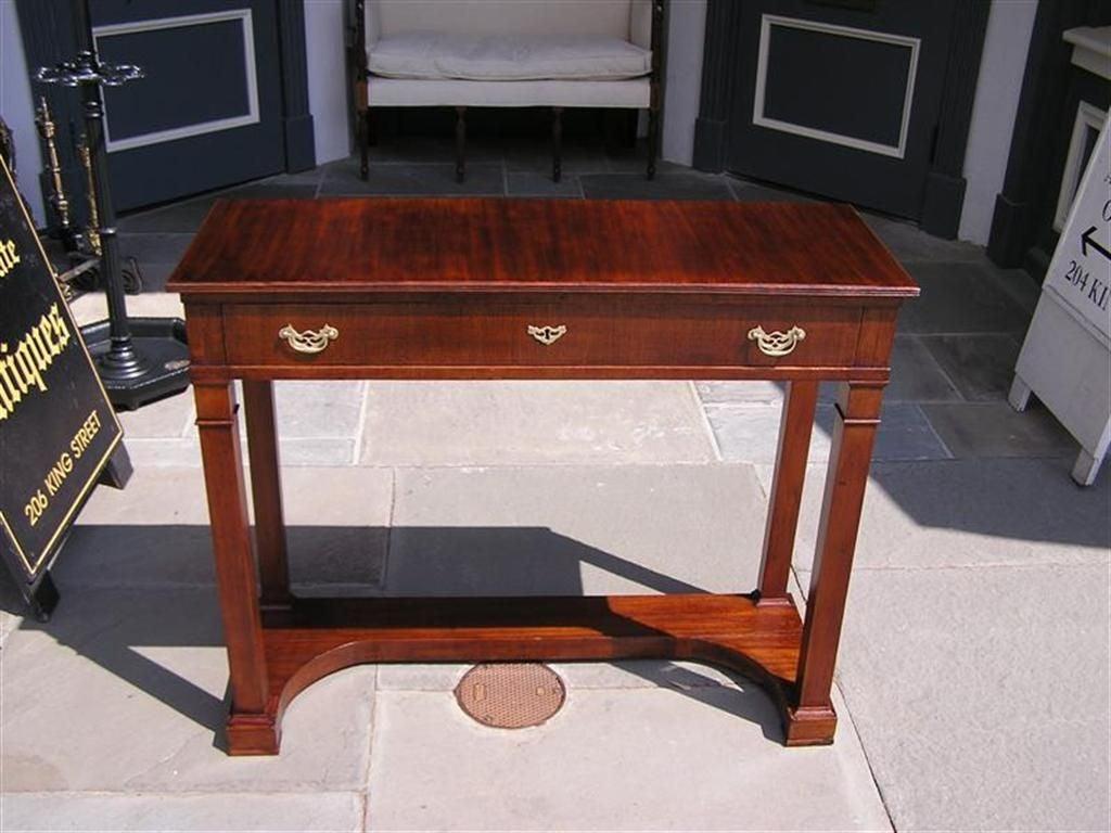 George III English Mahogany One Drawer Diminutive Console , Circa 1810 For Sale