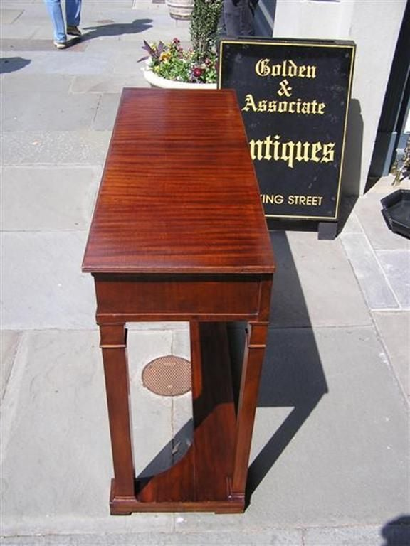 Cast English Mahogany One Drawer Diminutive Console , Circa 1810 For Sale