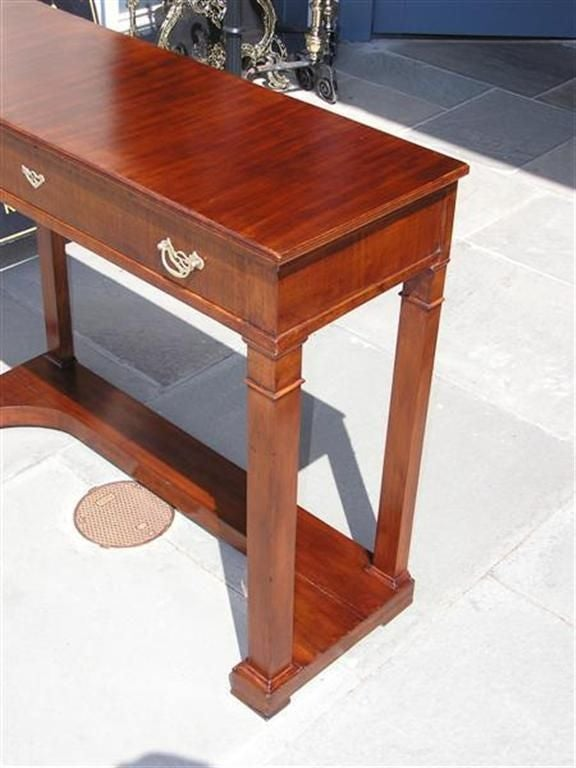 English Mahogany One Drawer Diminutive Console , Circa 1810 In Excellent Condition For Sale In Charleston, SC