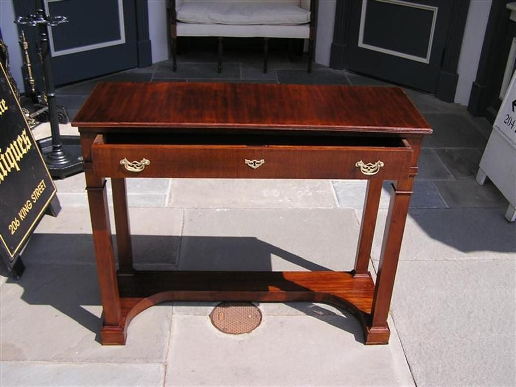Early 19th Century English Mahogany One Drawer Diminutive Console , Circa 1810 For Sale