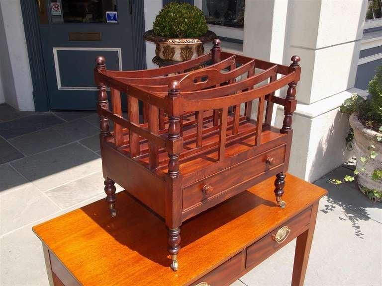 British English Mahogany Bow Framed Canterbury For Sale