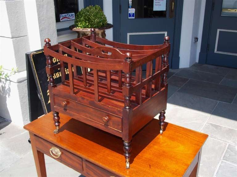 English Mahogany Bow Framed Canterbury In Excellent Condition For Sale In Charleston, SC
