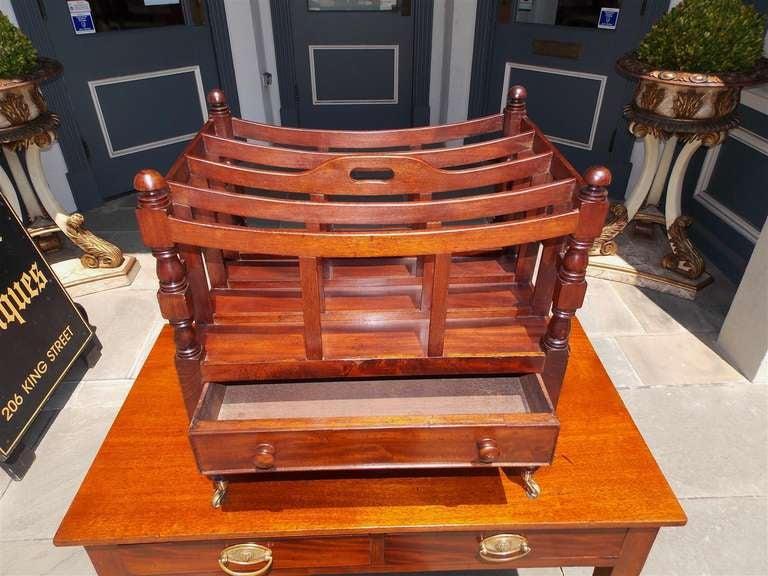 19th Century English Mahogany Bow Framed Canterbury For Sale