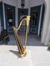 English Gilt and Black Lacquered Harp signed Sabastian Erards. Circa 1805 image 2