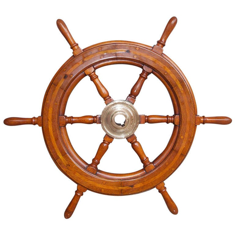 American walnut classic yacht wheel 19th century for sale for American classic wheels for sale