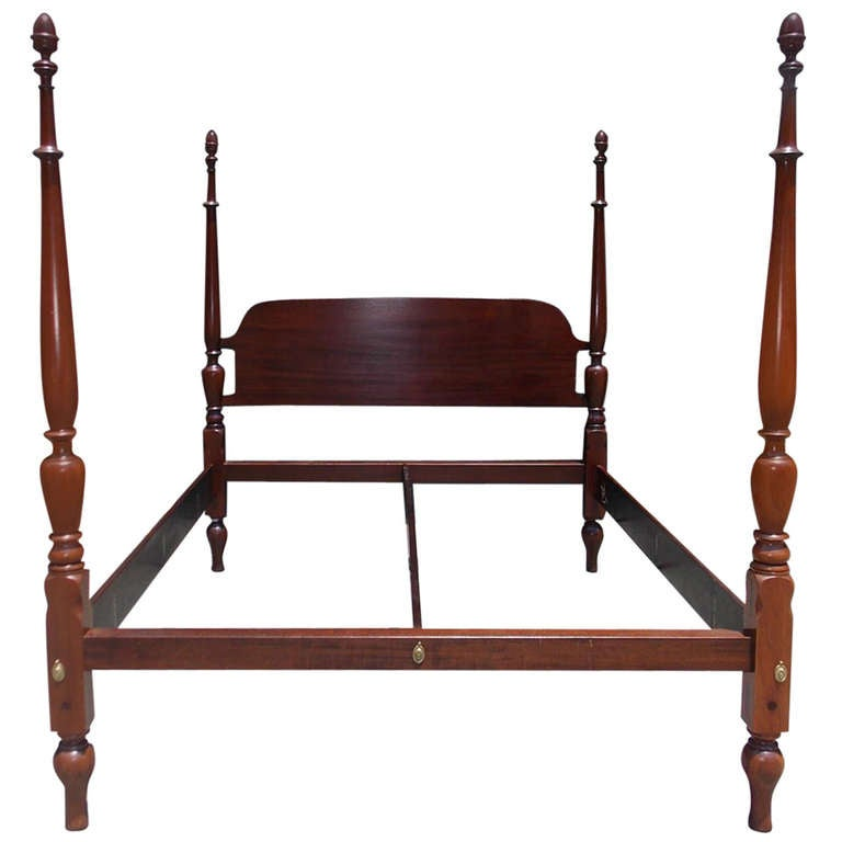 American mahogany king size four poster bed circa 1810 - Four poster bedroom sets for sale ...