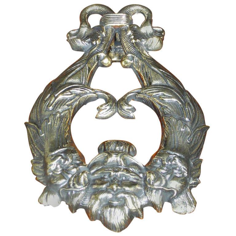 English regency dolphin door knocker circa 1820 for sale at 1stdibs - Brass dolphin door knocker ...