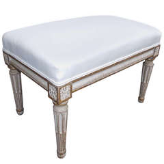 Italian Painted and Gilt Foot Stool, Circa 1810