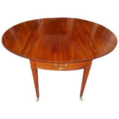 English Mahogany Drop-Leaf Pembroke Table, Circa 1780