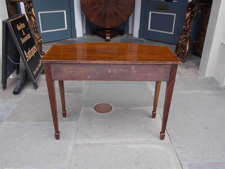English Hepplewhite Mahogany Bow Front  Inlaid Server, Circa 1790 For Sale 5