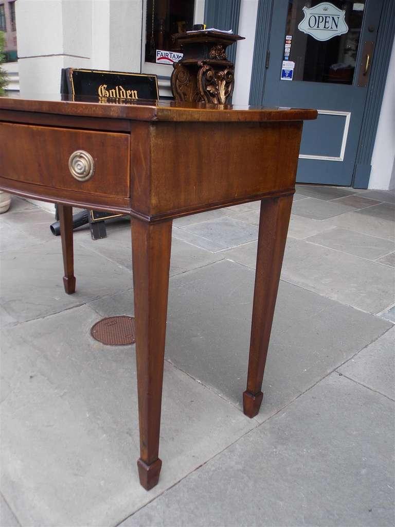 English Hepplewhite Mahogany Bow Front  Inlaid Server, Circa 1790 For Sale 1