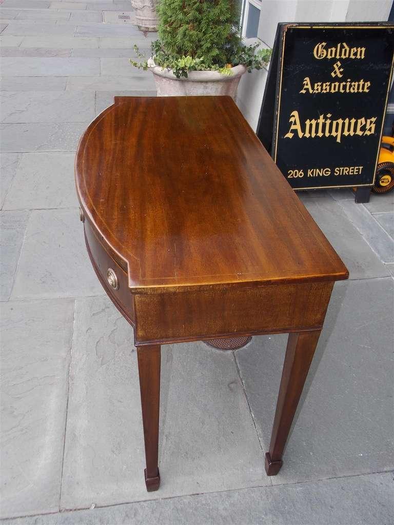 English Hepplewhite Mahogany Bow Front  Inlaid Server, Circa 1790 For Sale 2