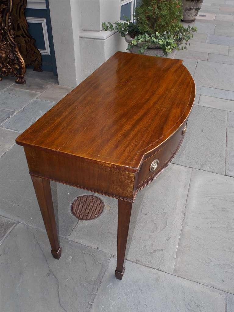 English Hepplewhite Mahogany Bow Front  Inlaid Server, Circa 1790 For Sale 3