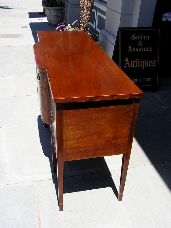 American Charleston Classical Hepplewhite Mahogany & Satinwood Inlaid Sideboard. C. 1790 For Sale