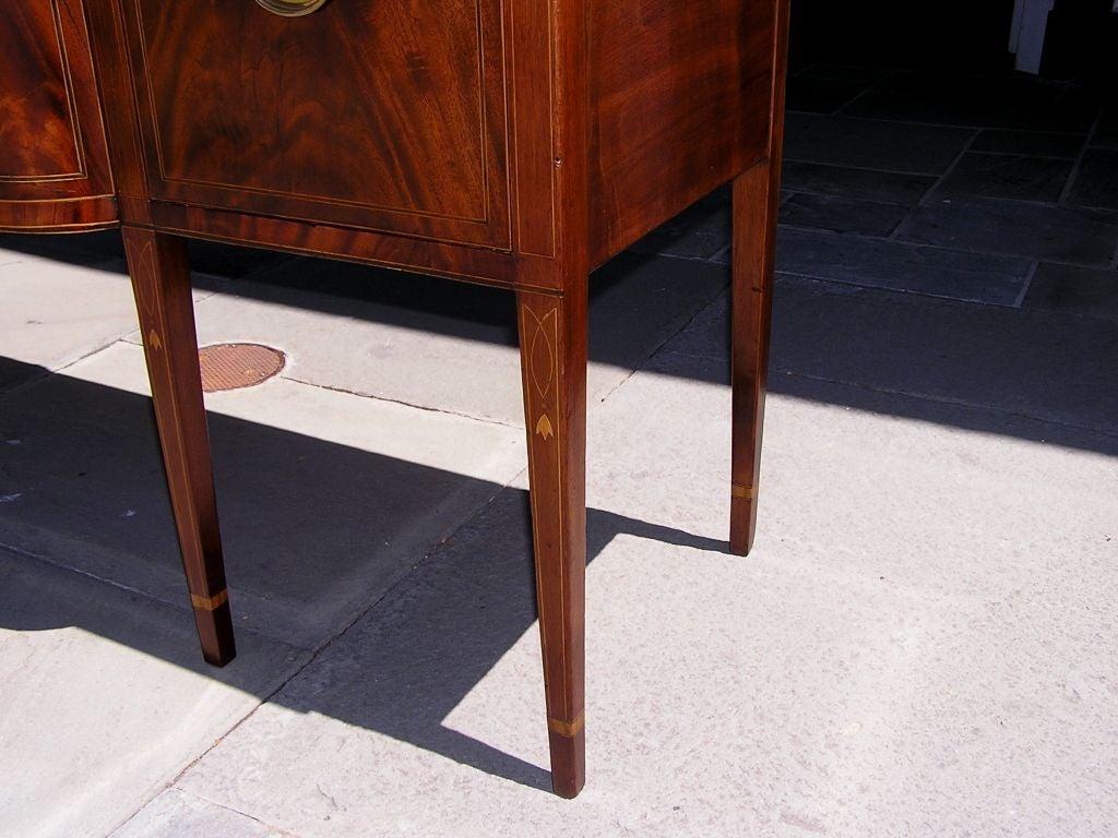 Charleston Classical Hepplewhite Mahogany & Satinwood Inlaid Sideboard. C. 1790 For Sale 1