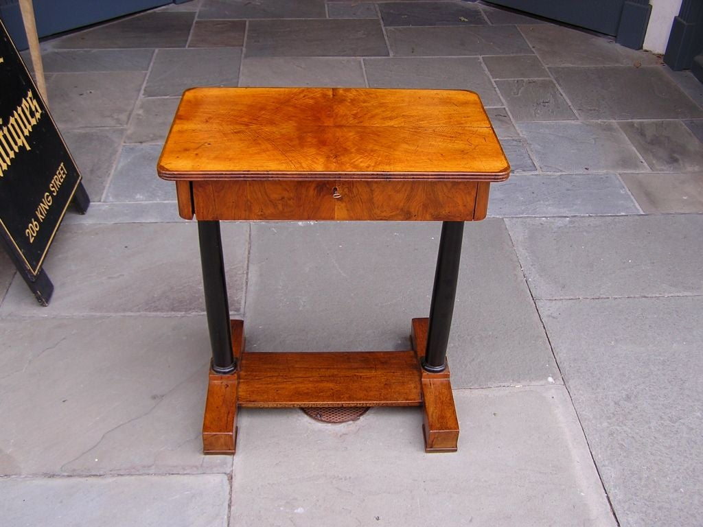 french burl walnut work table for sale at 1stdibs. Black Bedroom Furniture Sets. Home Design Ideas