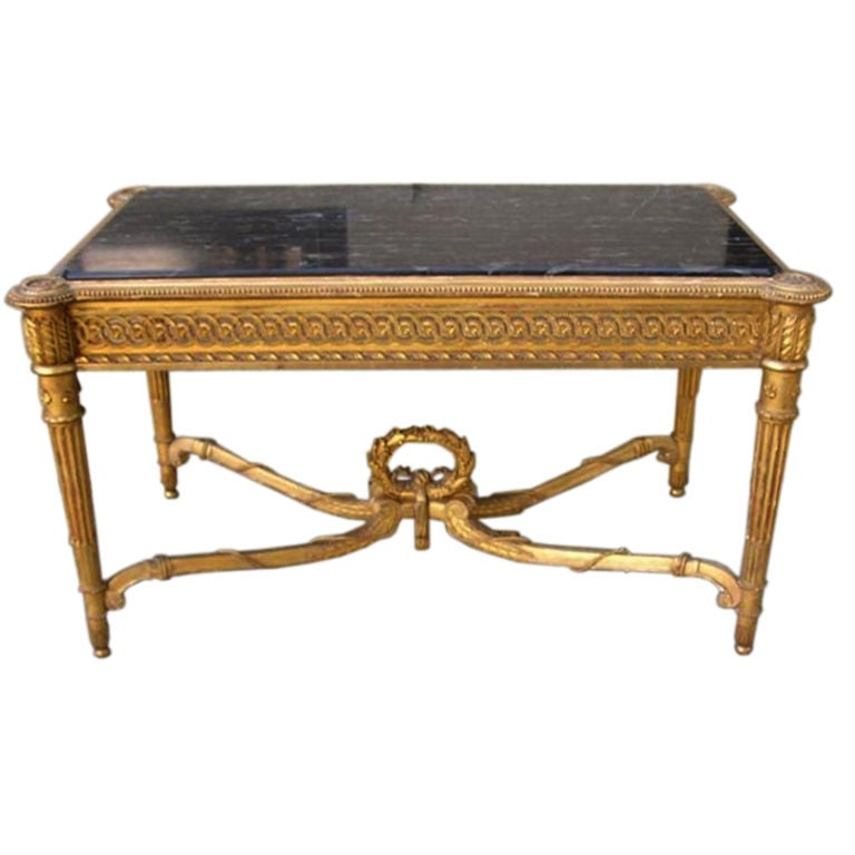 French Gilt Marble Top Console Table For Sale At 1stdibs