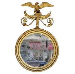 Irish Gilt Carved Wood Eagle & Acanthus Scrolled Mirror. Circa 1770