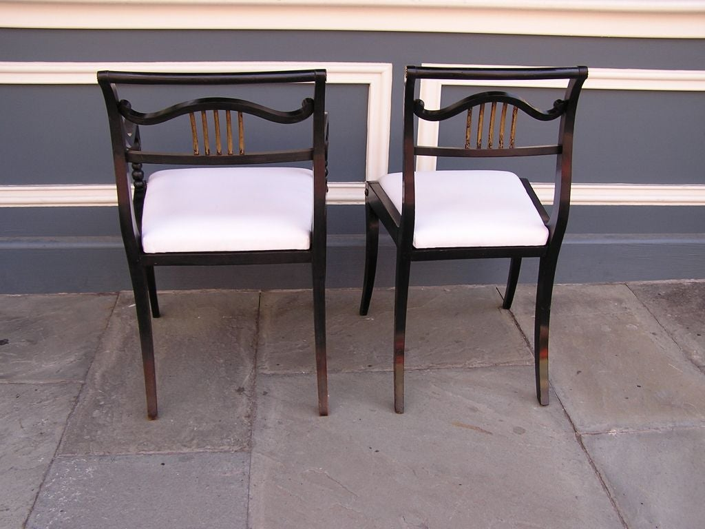 Set of Eight English Regency Chairs For Sale 6