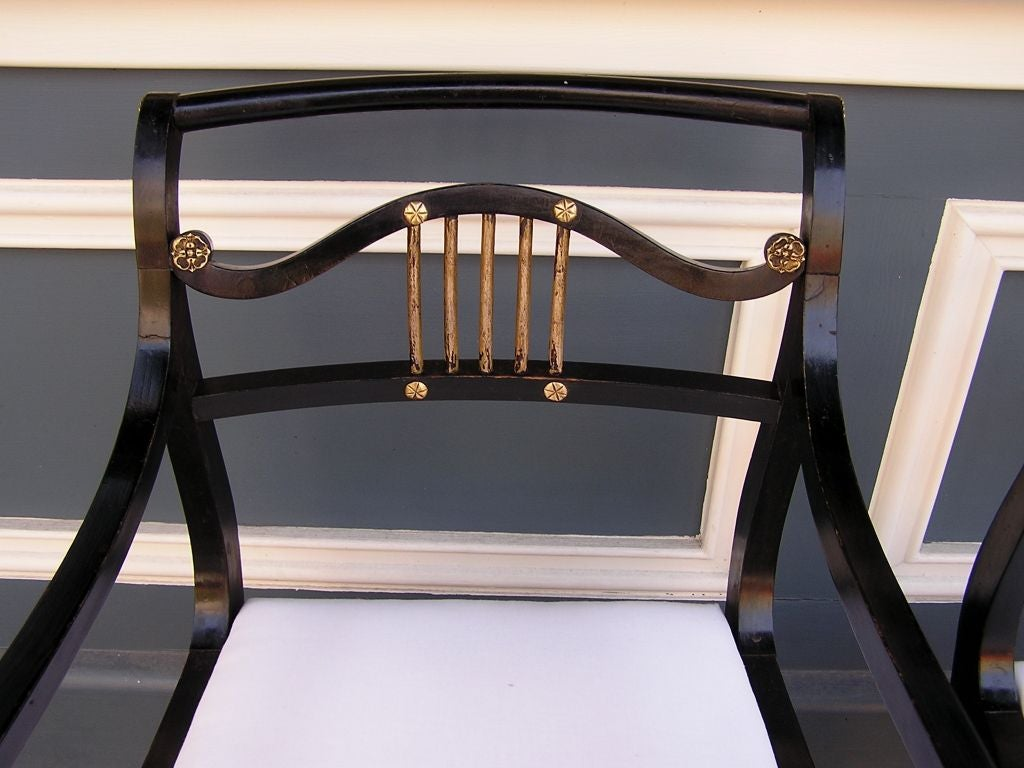 18th Century and Earlier Set of Eight English Regency Chairs For Sale