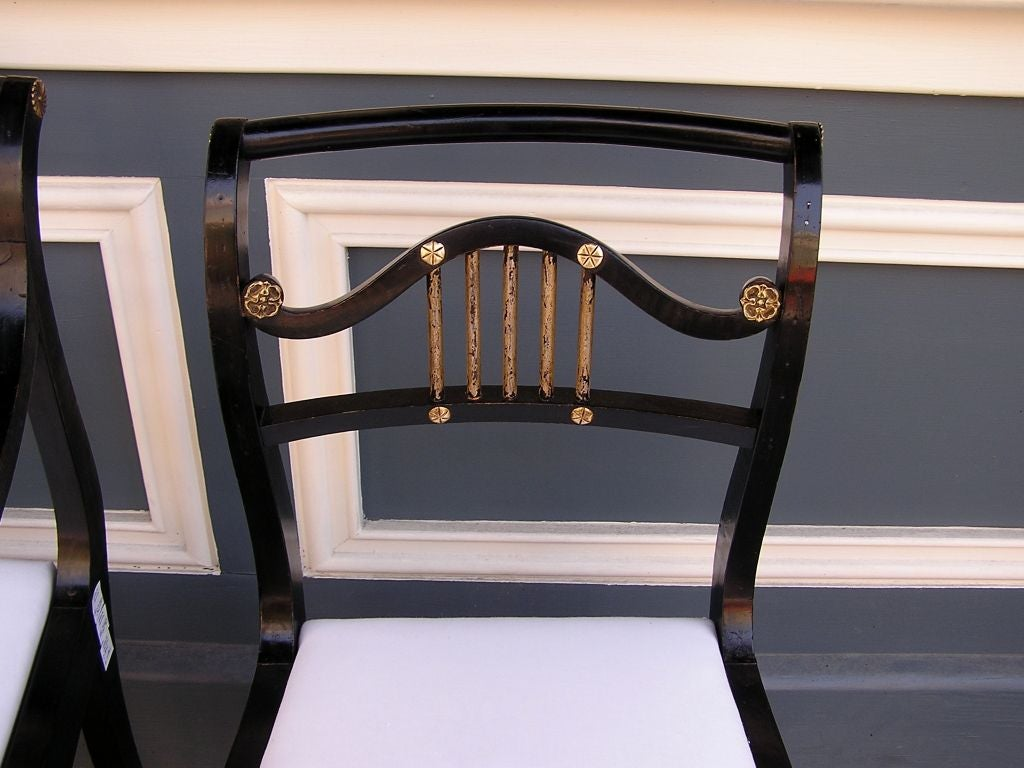 Set of Eight English Regency Chairs For Sale 1