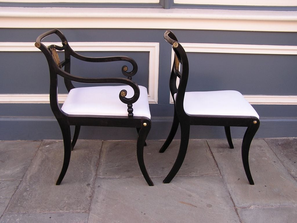 Set of Eight English Regency Chairs For Sale 5