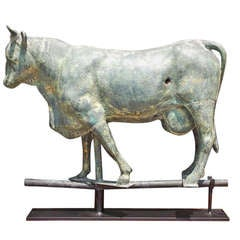 American Copper Full Bodied Cow Weathervane